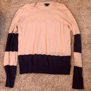 Theory light sweater with stripes